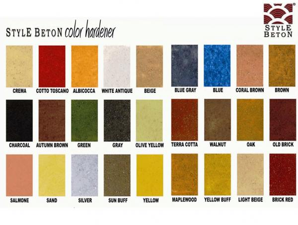 stencil materials colors application - Beton Color